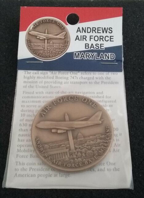 NEW White House Air Force 1 One USAF President POTUS Andrews NIB Challenge Coin