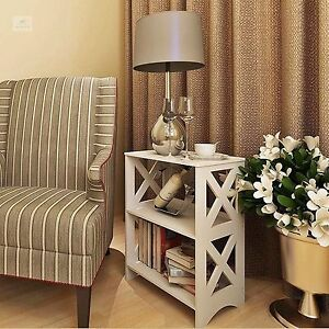 Image Is Loading Small Side Table Living Room White Unit End