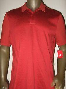 Men-039-s-L-Solid-Cayenne-Red-Nike-Air-Max-Standard-Fit-Polo-Golf-Sport-Shirt-805118