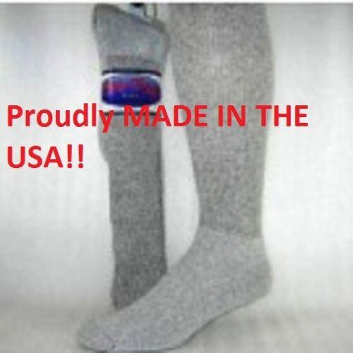 6 or 12 Pair Made in USA Pro-Trek Over the Calf Full Cushion Work Boot Socks