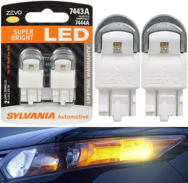 Sylvania Zevo Lumière LED 7444na Ambre Orange Deux Ampoules avant Signal Adapté