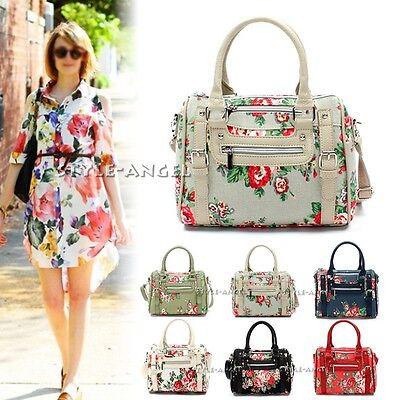 New Women Handbag Ladies Floral Vintage Flower Tote Shoulder Cross Body Bag Hobo