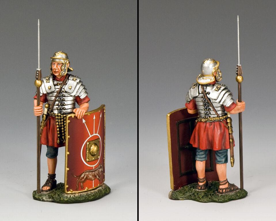 KING & COUNTRY ROMAN EMPIRE ROM010 ROMAN LEGIONARY ON GUARD MIB