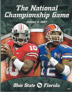 Image Is Loading 2007 National Championship Football Program Ohio State Vs
