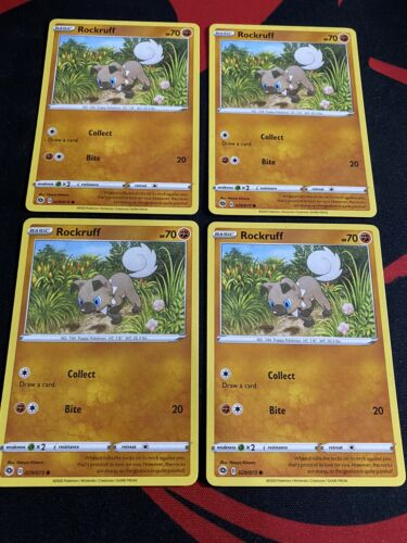 4x Pokemon TCG Champion's Path  - Rockruff - 029/073 - Common