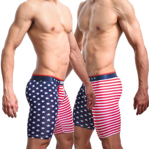 Caleçons Boxer Hommes Amériques sous-vêtements Culotte Drapeau Américain USA étoiles fashion