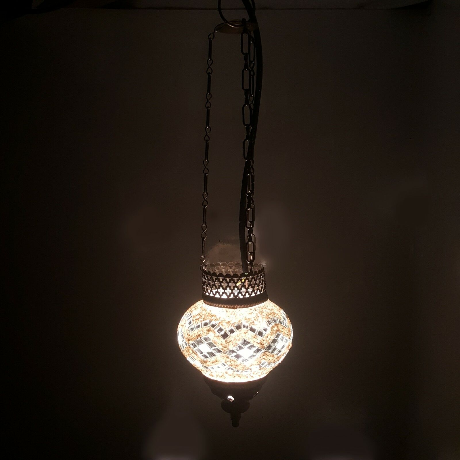 Details about turkish moroccan colourful mosaic hanging lamp light uk top seller