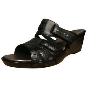 a39d9f2c5053ad Image is loading Clark-s-Lucia-Sun-Wedge-Sandals-Black-For-