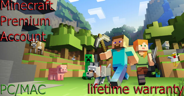 Minecraft Premium Account [Lifetime warranty,Nick,Skin] PC/MAC