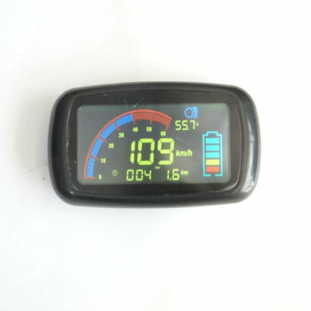 48V LCD display Speedometer batery level indicator for electric scooter bike MTB