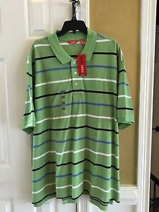 NWT-MENS-IZOD-BIG-amp-TALL-SEACREST-GREEN-POLO-SHIRT-3XL