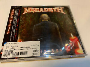 MEGADETH-TH1RT3EN-THIRTEEN-13-JAPAN-JAPANESE-PRESS-ORIGINAL-CD-AUTHENTIC