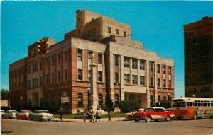 Autos-Bus-1950s-Meridian-Mississippi-Deep-South-Crocker-postcard-12659
