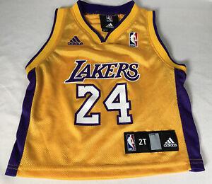 Rare VTG Kobe Bryant #24 Los Angeles Lakers Adidas Gold Toddler ...