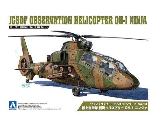 Aoshima 1  72 JGSDF Observation Helikopter OH -1 Ninja nr.13