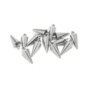Silver Plated Stainelss Steel Oval Leaf Charm Findings for DIY Jewelry Making