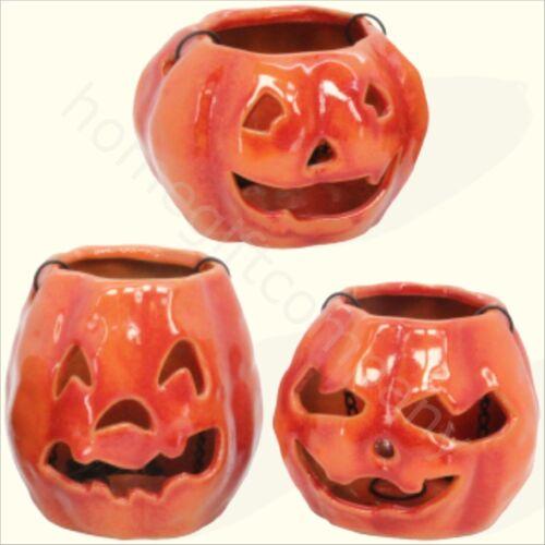 Gisela Graham Ceramic Hanging Pumpkin Tea Lights Halloween Home Decoration S//M//L
