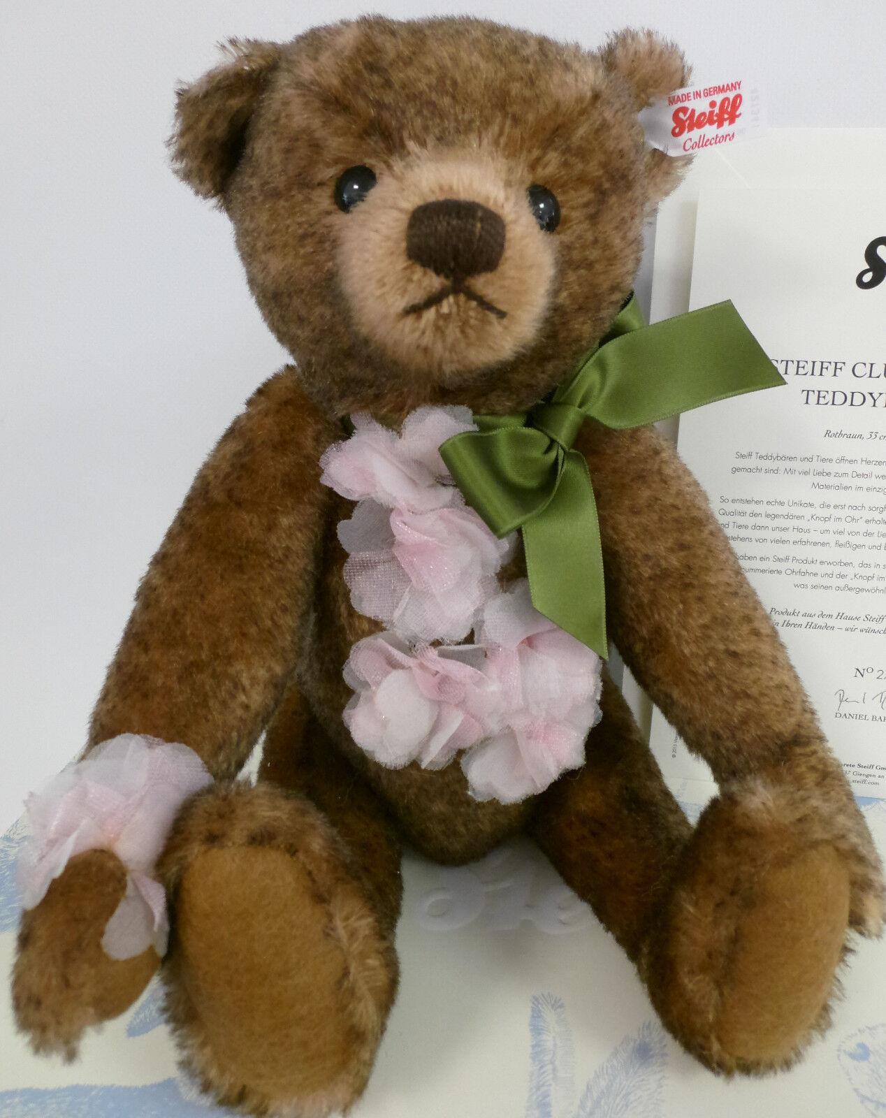 NEU Steiff 421341 Teddybär Cherry Mohair rotbraun 33 cm limitierte Auflage