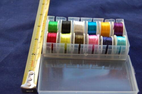 Floss Multicolor Hilo 12x Carrete de Sedal Montaje de Moscas