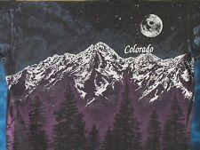vintage 90s COLORADO MOUNTAIN MOON ALL-OVER PRINT T-Shirt XL nature ski 80s