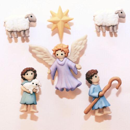 Boutons Dress It Up Collection Noël Berger et Ange de Noël The Good Shepherd