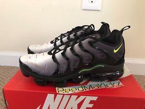 pretty nice 321c3 0c46b Details about Nike Air Vapormax plus Neon Black Volt Mens sizes 924453 009