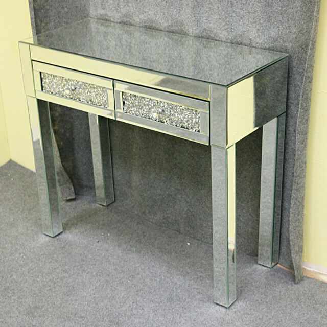 Modern Dresser Mirrored Furniture Gl Dressing Table With Drawers Bedroom Uk
