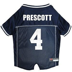 Dak-Prescott-4-Dallas-Cowboys-Licensed-NFLPA-Dog-Jersey-Navy-Sizes-XS-XL