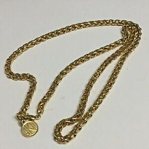 """24"""" Anne Klein II Byzantine Chain Necklace Gold Tone"""