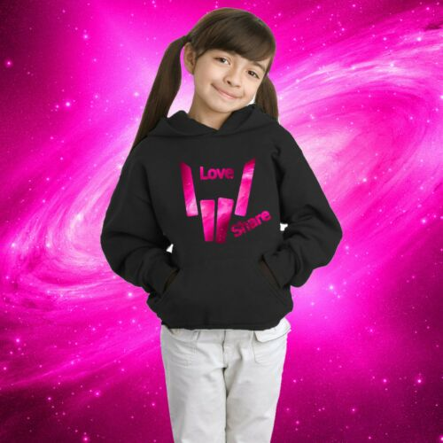 share the love kids hoodie girls hoodie inspired by pink share the love merch