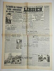 N528-La-Une-Du-Journal-libres-28-decembre-1944-la-bataille-des-Ardennes