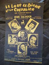 Partizione Del lupo la cerva e la chevalier Chanson Dolce Henry Salvador 1950