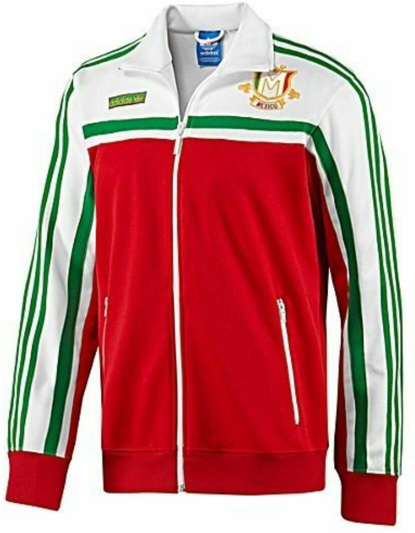 X LARGE adidas Originals Herren MEXICO Firebird Track Top Jacke Weiß Grün Rot