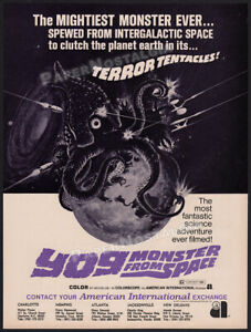YOG: MONSTER FROM SPACE__Orig. 1971 Trade Print AD promo / ADVERT__ISHIRO HONDA
