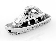 STERLING SILVER SMALL BOAT TUGBOAT CHARM WITH ONE SPLIT RING