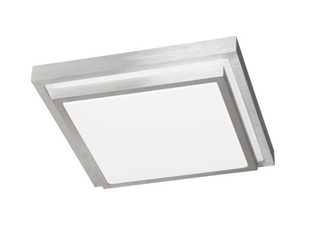 Wofi Action LED Deckenleuchte Halden Aluminium Gebürstet Lampe ...