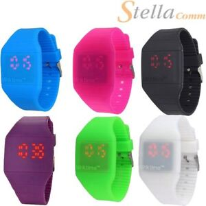 Blink-Time-MINI-Watch-Colourful-Touch-Operated-LED-Digital-Silicone-Strap