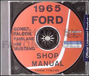 1965 comet falcon fairlane and mustang shop manual