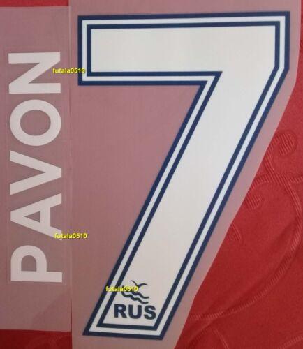 PAVON # 7 BOCA JUNIORS 2017-2018 HOME NAME AND NUMBER SET