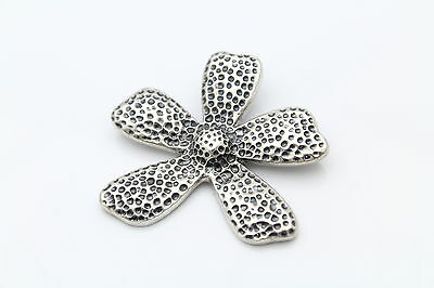 Silpada Dimpled Texture Flower Slide-Pendant S1101 in Sterling Silver