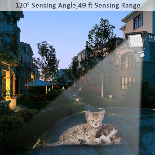 12//220V LED Floodlight PIR 10//20//30//50//100W Motion Sensor Outdoor Security Light