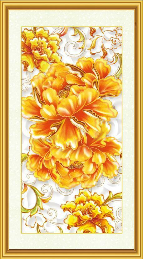 3D Golden flower painting Wall Paper Print Decal Wall Deco Indoor wall Mural