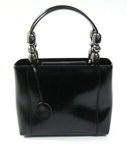 1193d741b84 Image is loading Christian-Dior-Vintage-Malice-Black-Leather-Small-Tote-