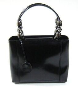 Image is loading Christian-Dior-Vintage-Malice-Black-Leather-Small-Tote- a2865559e7ba7