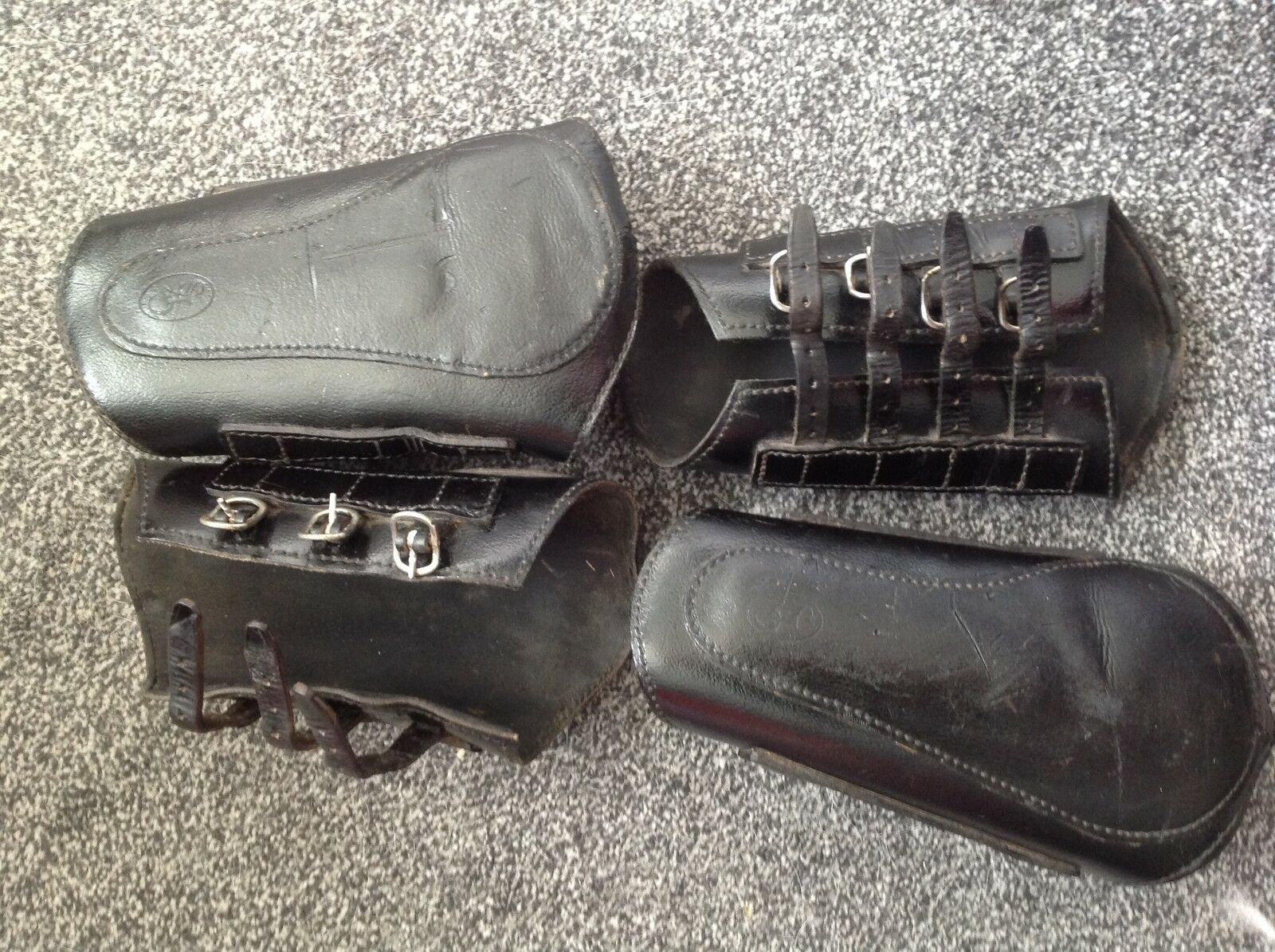 Full Set of GFS Leather Brushing Boots - Excellent Condition