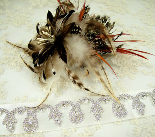 Vestido de noche Rhinestone decoración de noche Novia Disfraz De Cristal De Cinta Boda Artesanías Cadena