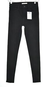 Details about Womens Levis HIGH RISE SUPER SKINNY 720 Black Stretch Jeans Size 6 W25 L30