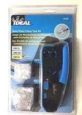 Ideal 33 396 5 38 Crimper And Connector Kit Rj 45 Rj 11 Datavoice Crimp Tool