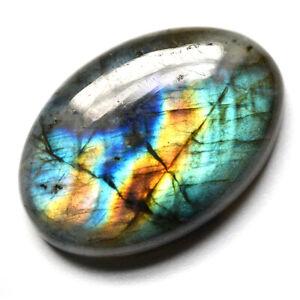 Cts-49-65-Natural-Blue-Spectrolite-Labradorite-Cabochon-Oval-Loose-Gemstone