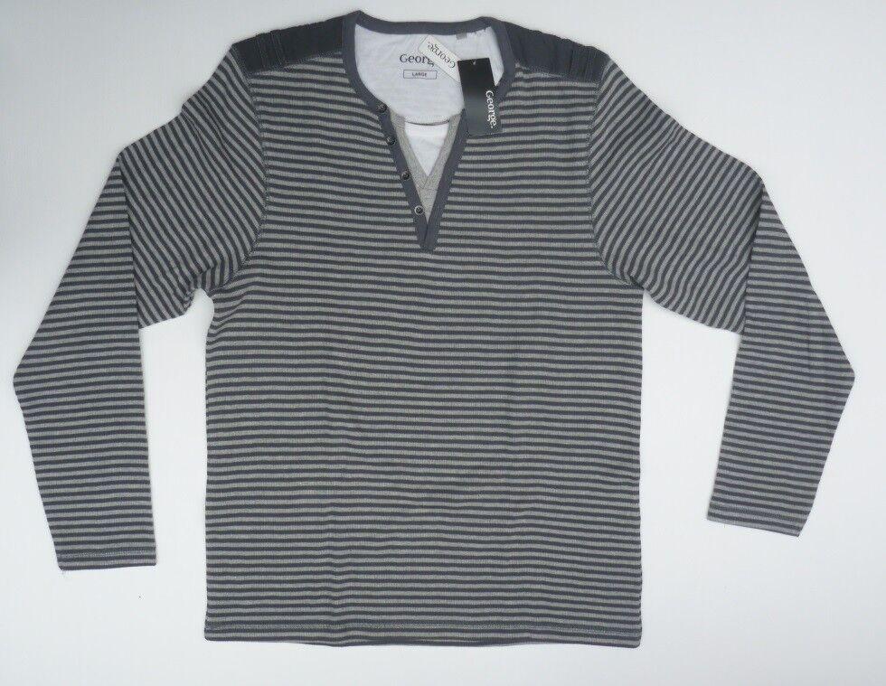 Noël 2 L Homme Gris Blanc george En Shirt Hoops 1 Coton Jersey taille axwxqvU